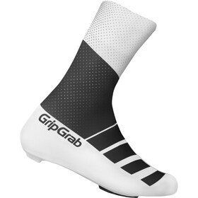 GripGrab RaceAero TT Raceday Lycra Copriscarpe in lycra, black/white